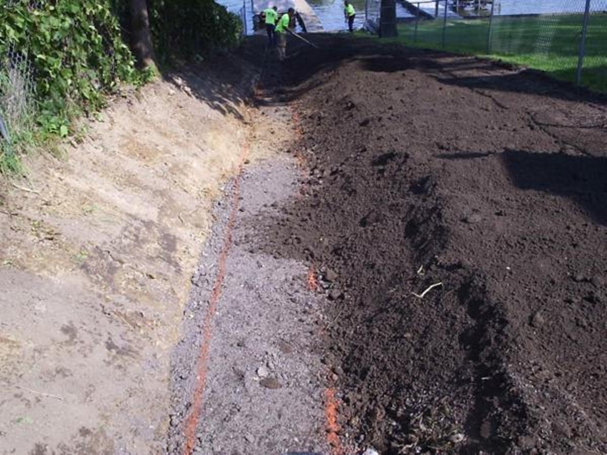 D Amp E Landscaping Amp Grading Drain Tile